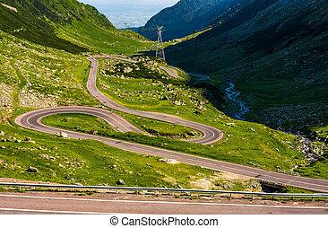 Tranfagarasan road in Romanian mountains - Transfagarasan...