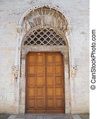 trani., st., portál, francesco, church., apulia.