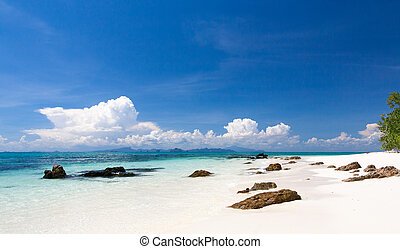 tranquil - beach on an uninhabited island in the Andaman sea