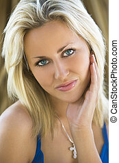 Tranquil Beauty - A beautiful blond haired blue eyed model...