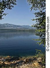 Tranquil Blue Lake
