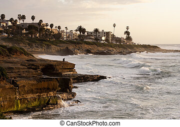 Tranquil California Coastline during a Sunset