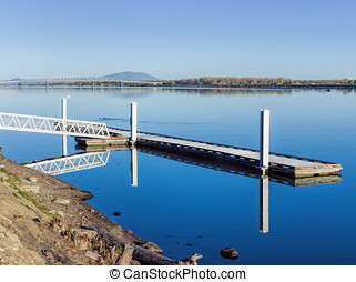 Tranquil Columbia River. - The tranquil waters of the...