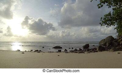 Tranquil deserted wild beach Thai