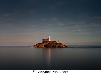 Tranquil evening at Mumbles lighthouse