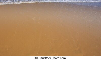 Tranquil Foamy Wave Surf Washes out Sign I Love You