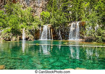 Hanging Lake Waterfall, Colorado, USA