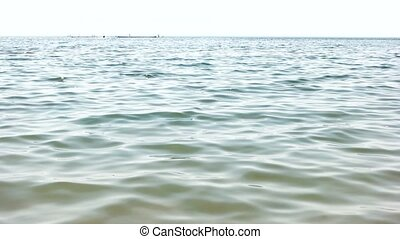 Tranquil sea water surface.