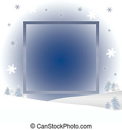 tranquil winter frame - tranquil winter scene frame trees...