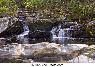 Tranquility - Mountain stream and waterfall