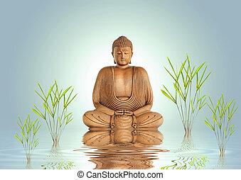 tranquillité, bouddha