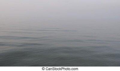 tranquillité, vagues, sur, mer