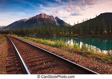 Trans Canadian Railway - The Bow river is a river that runs...