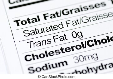 Trans Fat - Nutrition label focused on Trans Fat content...