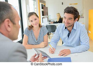 transactie, de ambtenaar van de lening