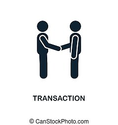 Transaction icon. Monochrome style design from blockchain icon collection. UI and UX. Pixel perfect transaction icon. For web design, apps, software, print usage.
