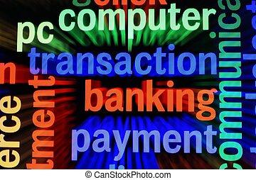 transaktion, bankwesen, zahlung