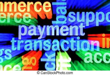 transaktion, betalning