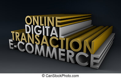 transaktion, online, digital