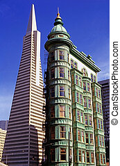 Transamerica Building and Columbus Tower in San Francisco