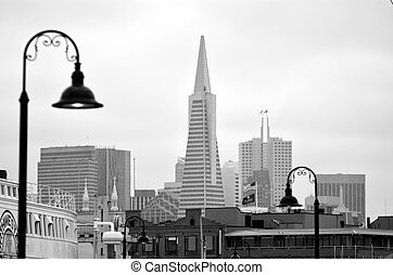 Transamerica Pyramid in San Francisco - California USA - SAN...