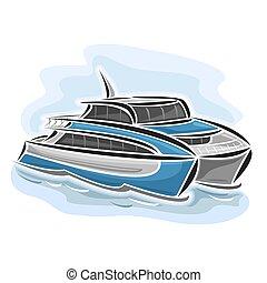 transbordador, catamarán