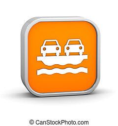 transbordador, vehículo, señal
