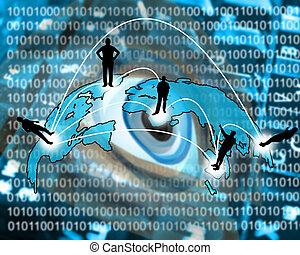 transcontinental transmission of data - International...