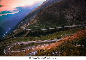 Transfagarasan - Mountain road - The road climbs to 2,034...