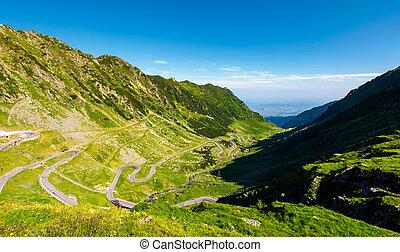 transfagarasan road in mountains of Romania. gorgeous view...