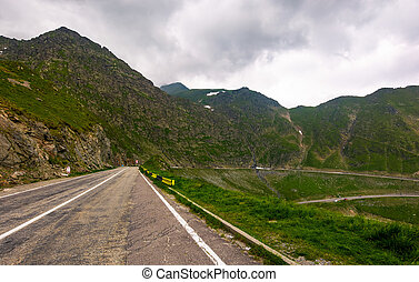 Transfagarasan route in stormy weather condition