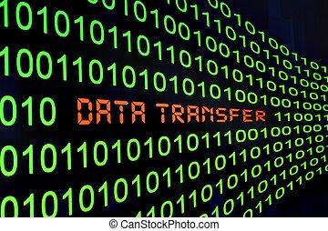transferência, dados