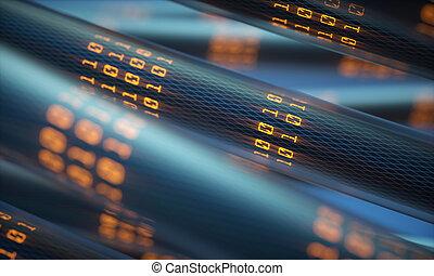 transferência, digital, dados, mundo