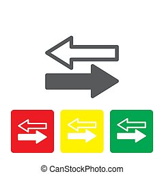 Transfer arrows outline icon. linear style sign for mobile concept and web design. Left right arrows simple line vector icon. Symbol, logo illustration.