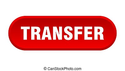 transfer button. rounded sign on white background