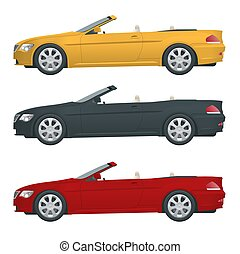 Transfer, Cabriolet car. Cabrio coupe vehicle template...