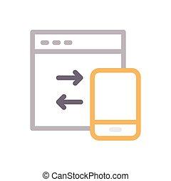 transfer  color line icon