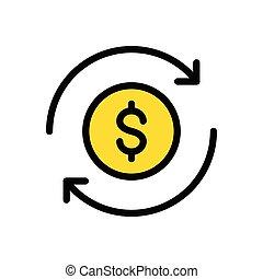 transfer  flat color icon