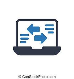 transfer  glyph color icon