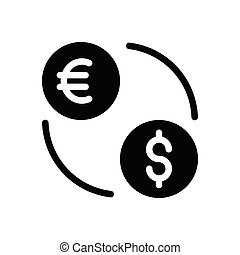 transfer  glyph flat icon