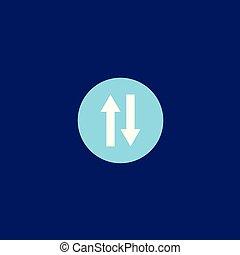 Transfer Icon Logo Vector Design Illustration