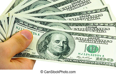 Transfer money. American currency