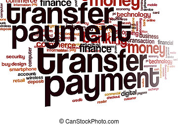 Transfer payment word cloud