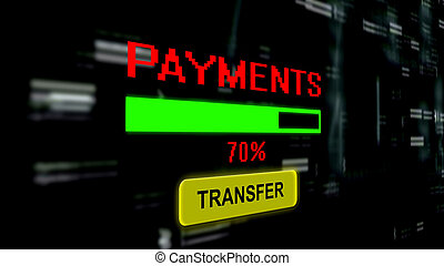 Transfer payments online progress bar