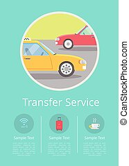 Transfer Service Information on Internet Page