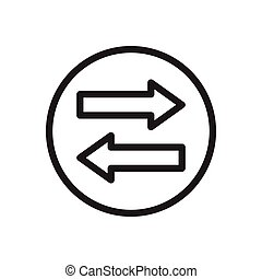 transfer  thin line icon