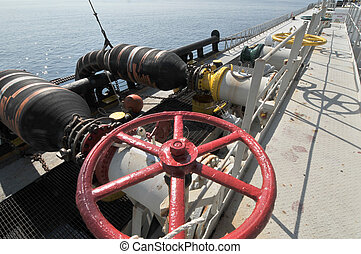 transferencia, aceite, gas, plataformas