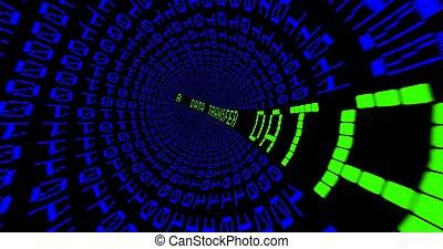 transferencia de datos, matriz, túnel