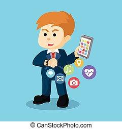 transfering, データ, smartwatch