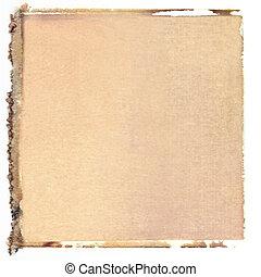 transfert, carrée, polaroid
